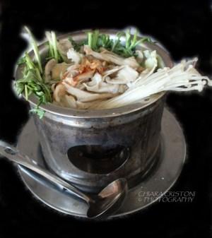 Chicken hotpot with mushrooms
