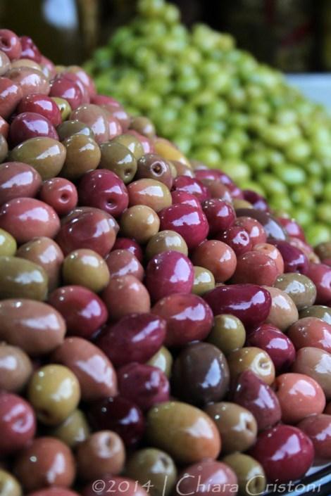 Morocco Marrakech Medina souk olives