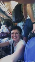 Me, sitting on the floor on the Galle-Colombo train