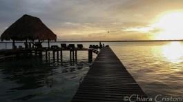 "Mexico Bacalar lake lagoon Yucatan ""Quintana Roo"" sunrise"