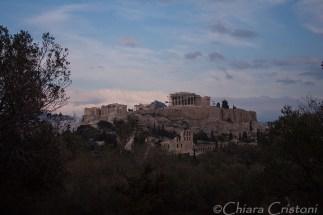 Acropolis seen from Philopappou hill