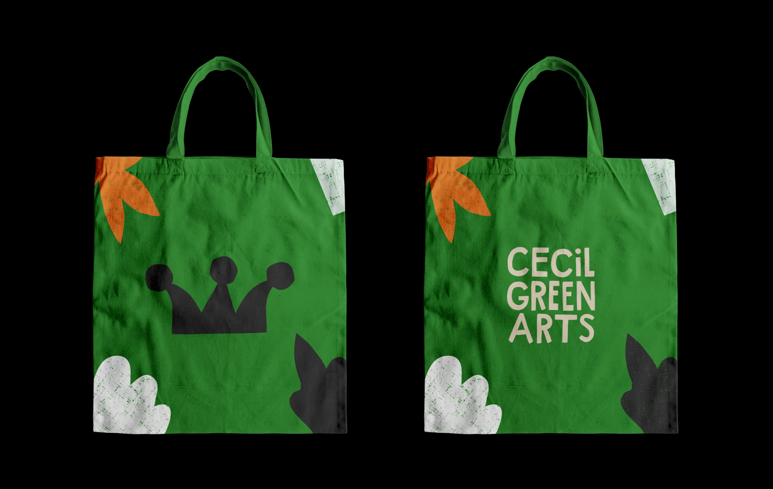Cecil Green Arts Branded Tote Bag Design