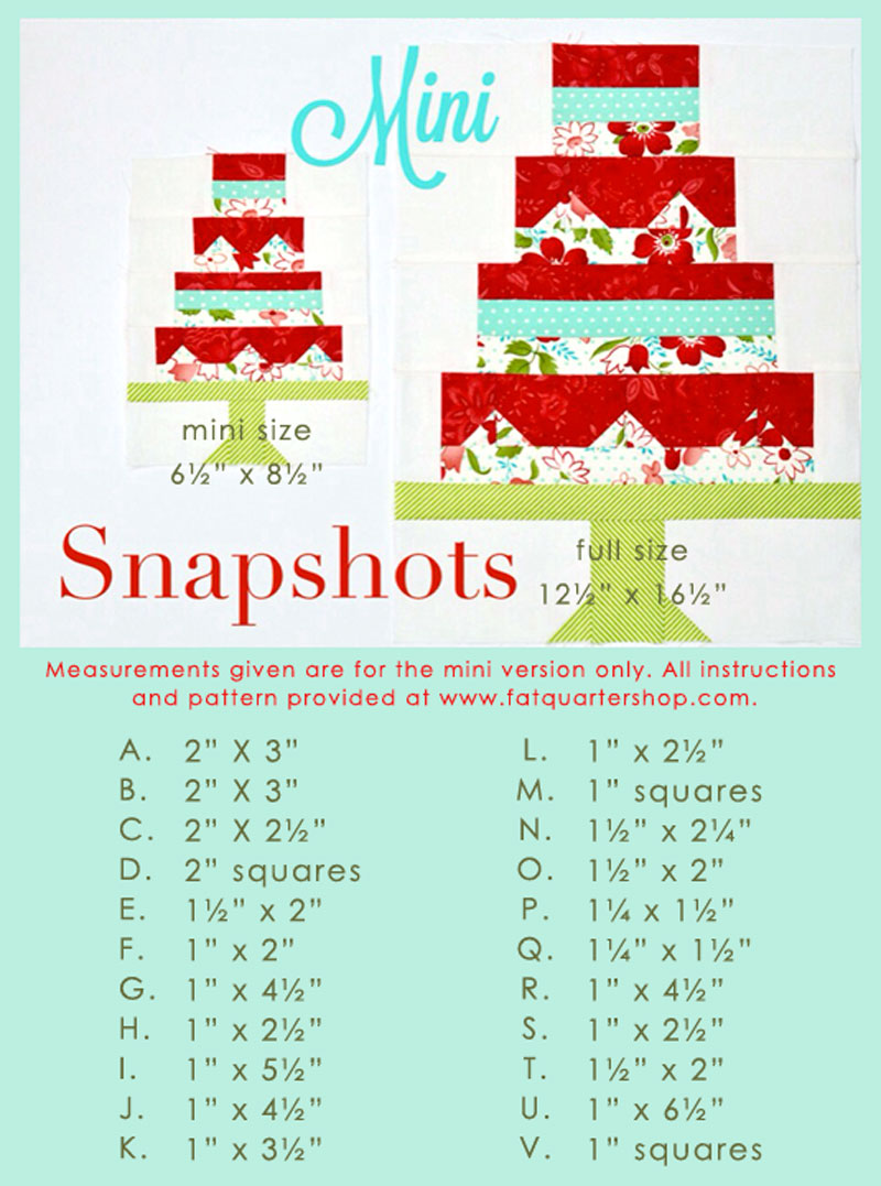 Snapshots Quilt-Along Mini Quilt Block 1 │Out of the Blue Quilts