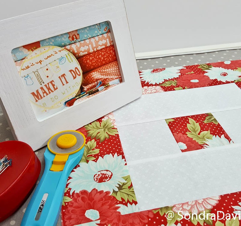 PWQAL Big and Small, Block 3 │ Out of the Blue Quilts by Sondra Davison