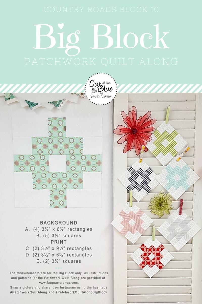 PWQAL Big Block 10 │ Out of the Blue Quilts by Sondra Davison