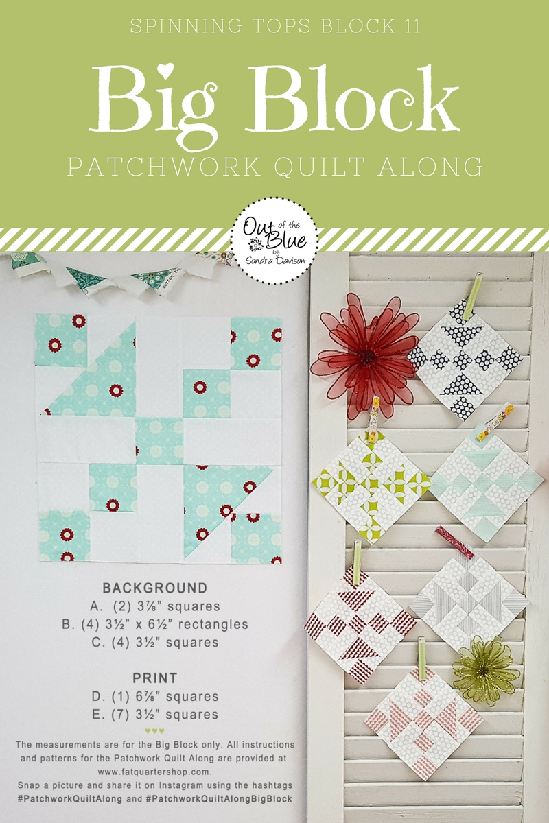PWQAL Big Block 11 │ Out of the Blue Quilts by Sondra Davison