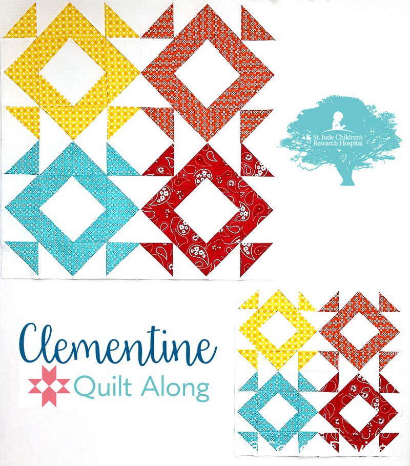2018 Clementine QAL Block 2 Broken Berries │ Out of the Blue Quilts