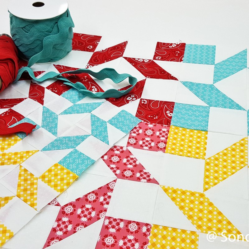 Clementine QAL Watermelon Wheel Block 1 │ Out of the Blue Quilts