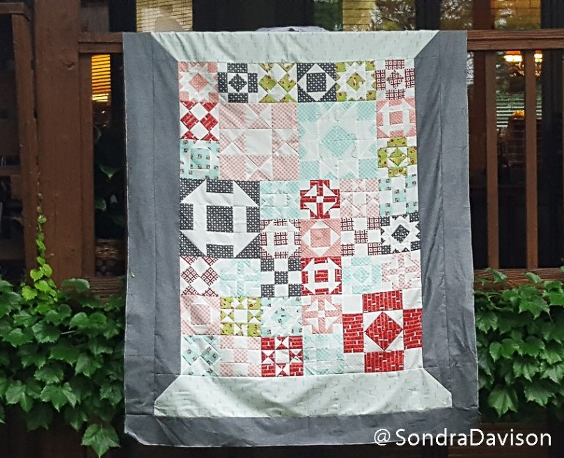 month nine photographing the Threadology Quilt of the FQS QAL