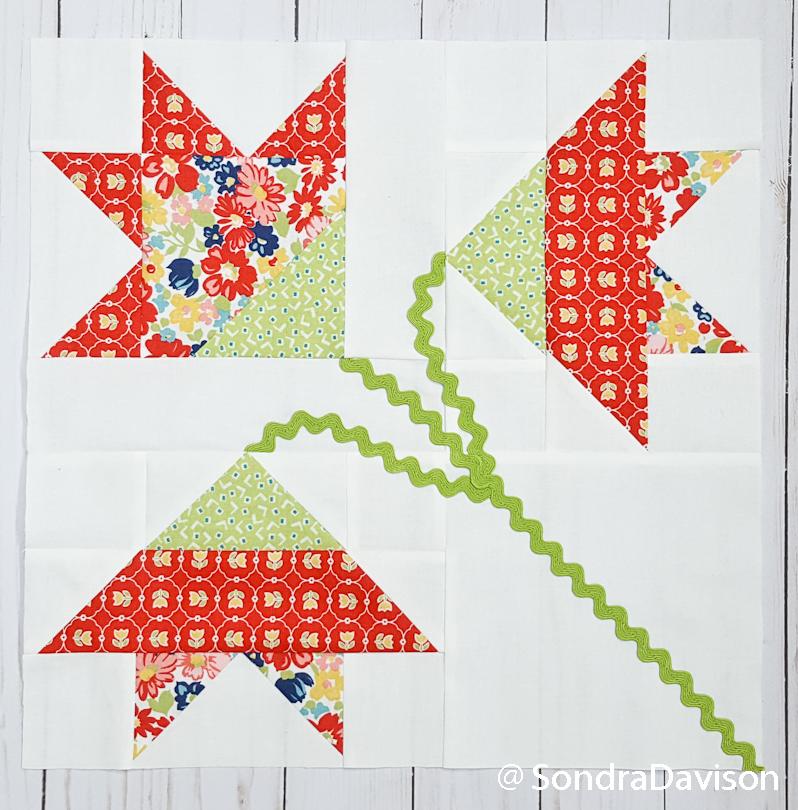 finished carolina lily quilt block