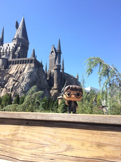 Harry hanging out on the bridge ready to share the spotlight with Hogwarts