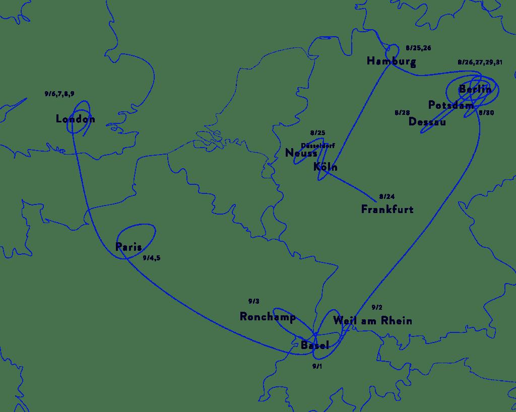 西ヨーロッパの地図