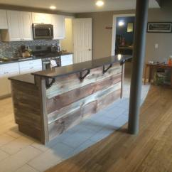 Kitchen Island With Bar Remodels Before And After Rustic Out Of The Woodwork