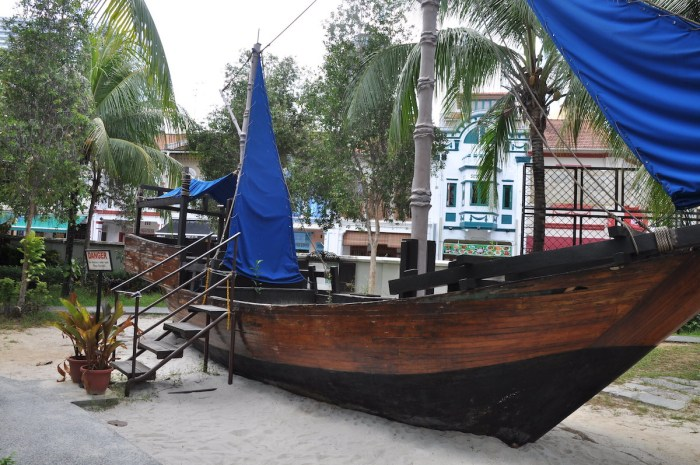 Boat used by Malay settlers