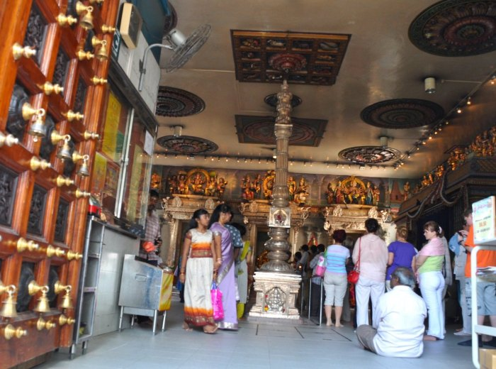 Inside the Temple in Little India