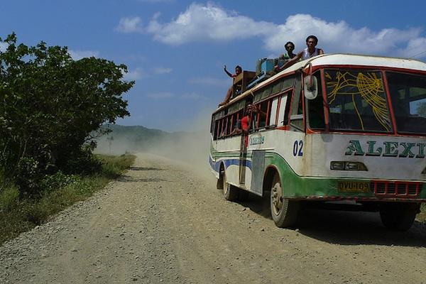 Old Non-Aircon Buses in Palawan