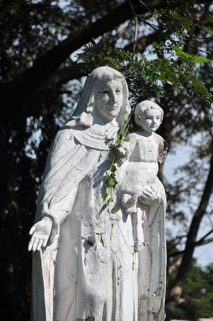 Virgin Mary in Pindangan Ruins
