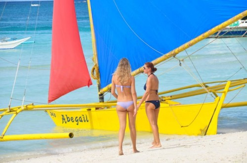 Australian Tourists in Boracay