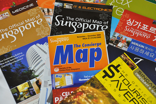 Free Maps at Changi Airport