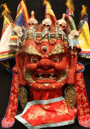 Red God Mask from Mongolia