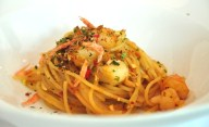 Seafood Crustacean Oil Spaghetti with Sakura Ebi