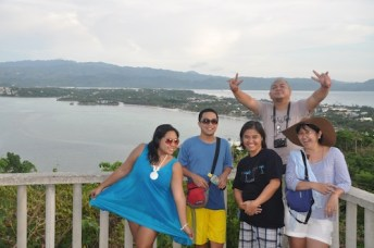 Travel Writers on top of Mount Luho