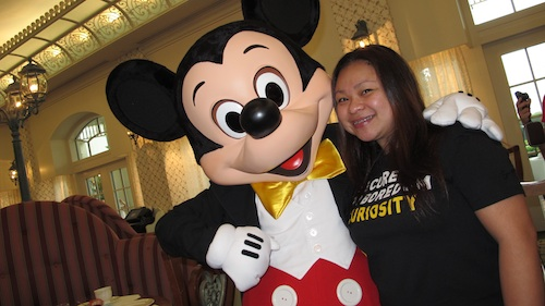 Paula Peralta with Mickey