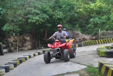 Enjoying ATV in Boracay