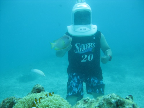 Helmet Diving in Boracay