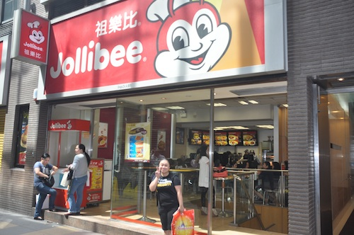 Paula in Jollibee Hong Kong