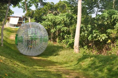 Zorbing in Boracay