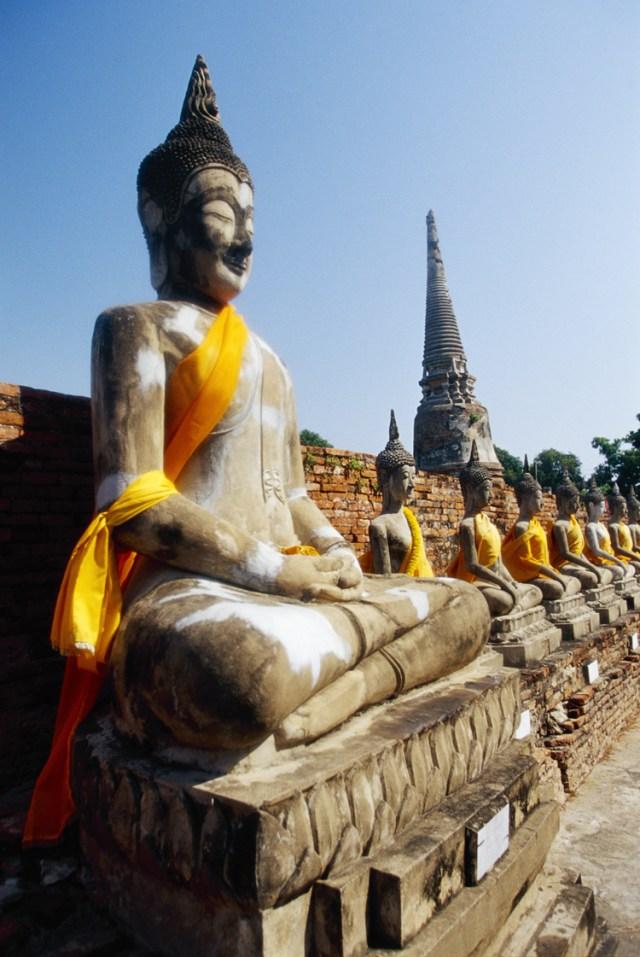 Buddha relics at the Wat Yai Chai Mongkhon Temple