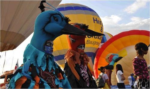 Ibon Ebun Festival Dancers Before the Balloon Flights