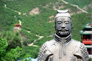 Ancient Warrior on Great Wall of China