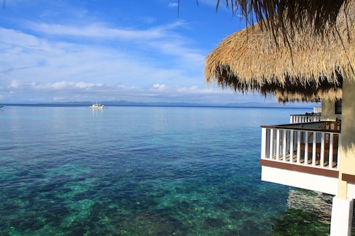 Apulit Island Resort - View of the Bay from the Water Cottage Verandah