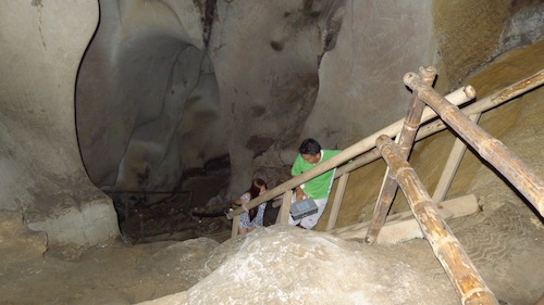 Bamboo Ladder inside St Josephs Cave
