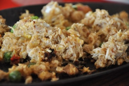 Sizzling Crab Meat