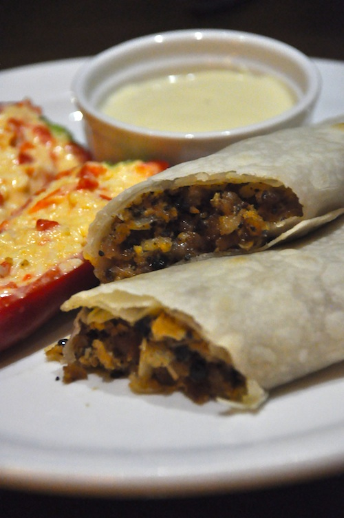 mooon cafe burrito sisig