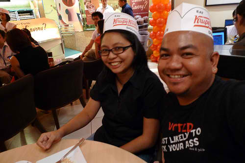 Melo and Kaoko at Krispy Kreme