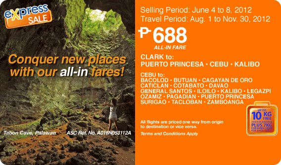 AirPhil Express Seat Sale