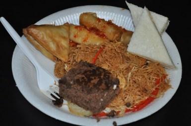 Food at the Press Con