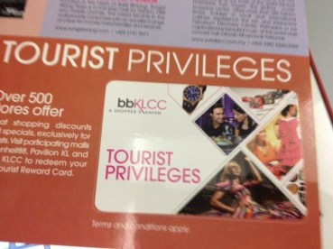 Tourist Privilleges Discount Card