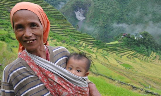 mother and child in batad