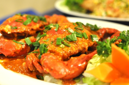 Hot Chili Crab with Coconut Milk