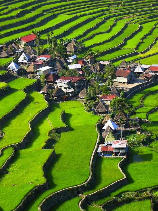 2000-year old Batad Rice Terraces, Ifugao Province, Philippines. A UNESCO World Heritage Site