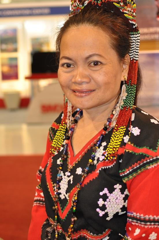 A Lady wearing Tiboli Tribe Costume