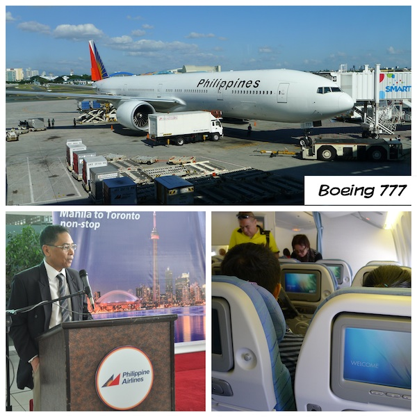 Philippine Airlines Toronto Inaugural Flight