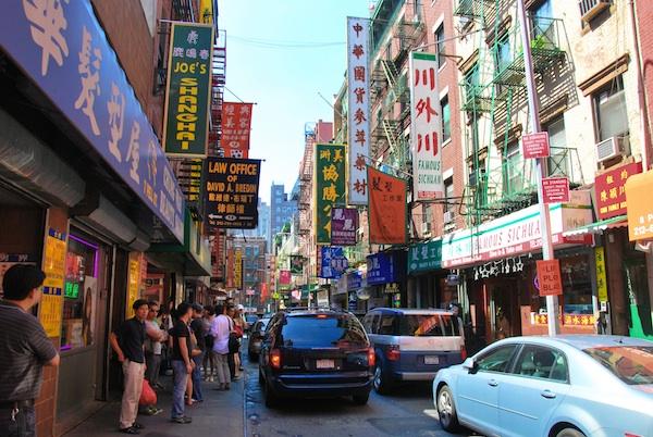 Chinatown in Manhattan New York City