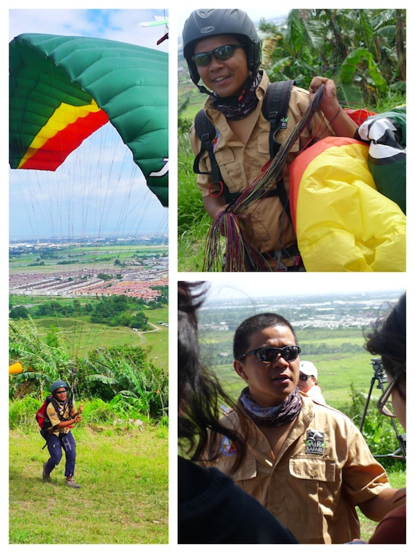 Getting Ready to Paraglide in Carmona Cavite