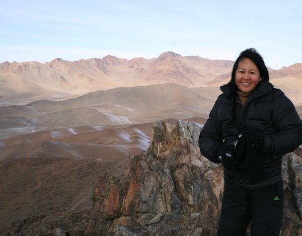 At the peak of Altai Nuur Mongolia